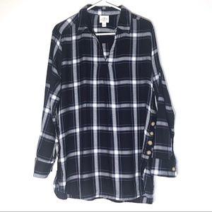 St. John's Bay Tunic Flannel Long Top